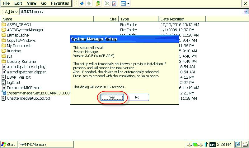 asem-hmi-mmc-memory-system-manager-setup